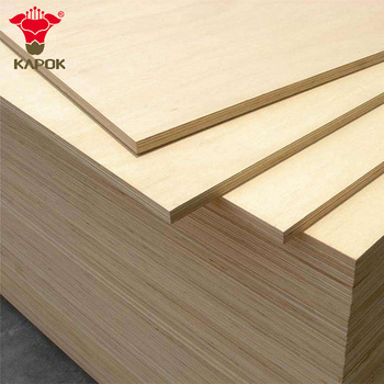 Wood grain 7 Ply Melamine Plywood For Doors Design and Cabinet