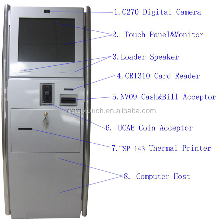 Custom infrared touch self service kiosk