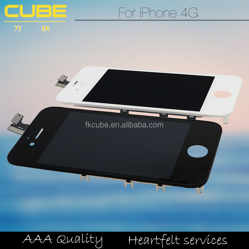 CUBE Hot!!! 100% Testing Pass , Accept Paypal , Escrow! Original New OEM dispaly screen for iphone 4 LCD in mobile