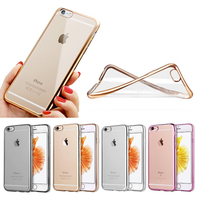 BRG Newest For Apple iPhone 6/6s Case Luxury Ultra-thin Electroplated Transparent TPU Mobile Phone Case