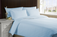 Sheet Set 4 PCs Cotton 1000 TC Queen Size Light Blue Stripe Color