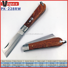 (PK-228RW) 2017 Best Selling 4 Inch Tanto Blade RoseWood Handle Pocket Seaman Knife for Sailing