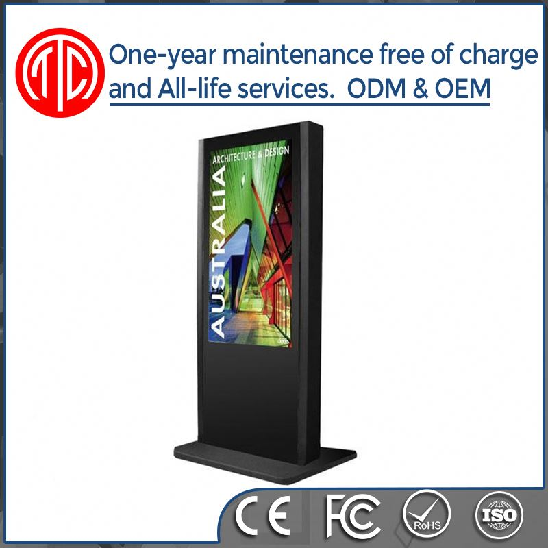 55 inch ir touch screen android4.4 wifi free standing lcd advertising display with network for advertising