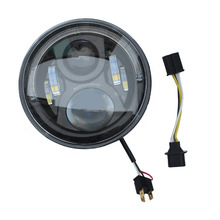 "Promotion Angel Eye LED Work Light 7"" Inch Car Accessiories Round LED Head Lamp With Halo Rings For Jeep"