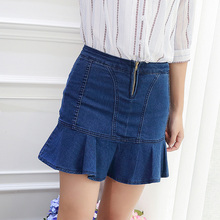 European jeans dresses new design children's denim skirt