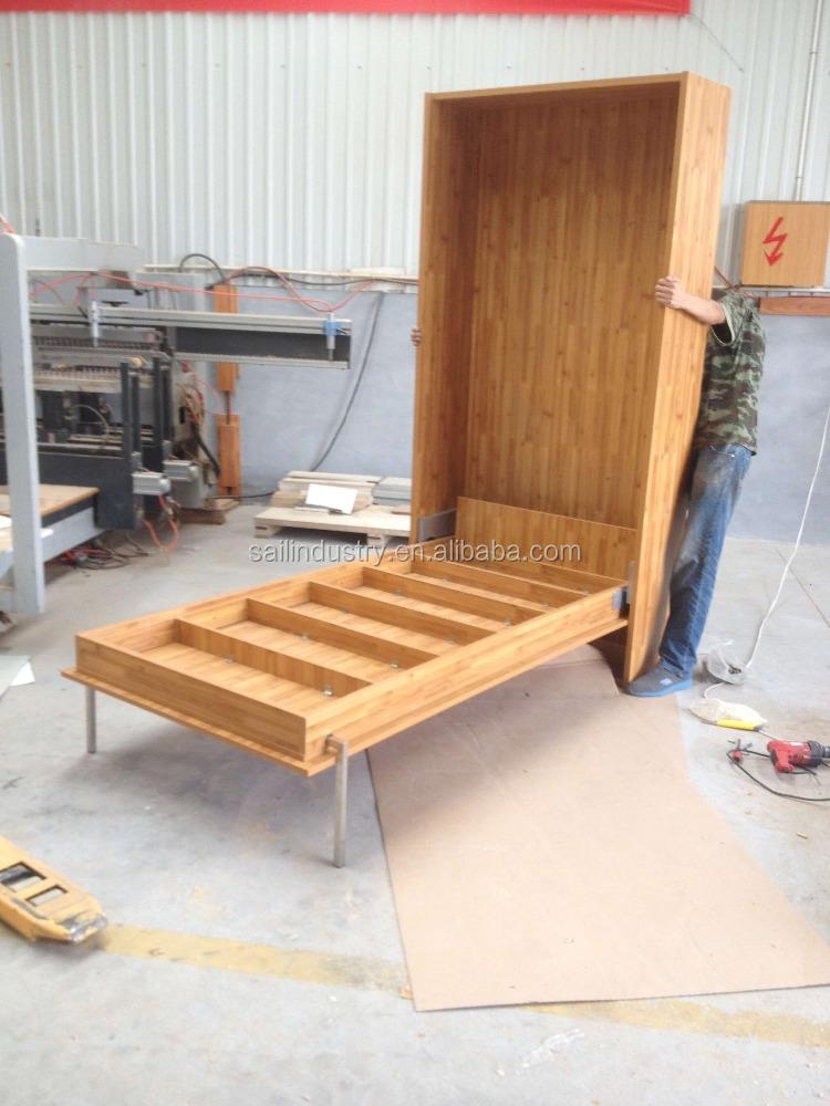Houten slaapkamer meubels kinderen folding bed met opslag-bedden ...