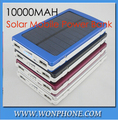 Hot sell Trend Black 10000mAh Solar Mobile Power Bank Backup Battery Solar Charger for GPS MP3 PDA Mobile Phone