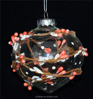 Different onion-shaped glass craft with orange fruits as christmas home or tree decoration, cheap souvenir, from my alibaba.com