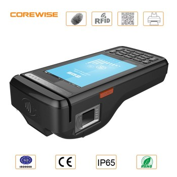 4G LTE Bluetooth USB port smart mobile terminal POS with Barcode and Fingerprint