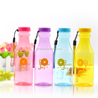clear tritan sport water bottle with carrying strap and large bottle cap