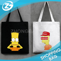 OEM ODM Factory Cheap Recycle Cartoon Printed Foldable Canvas Shopping Bag