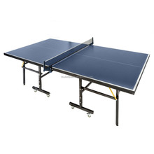 Black stanard foldable table tennis dimensions for gym equipment
