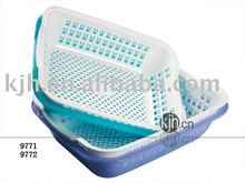 plastic rectangular double-layer colander