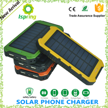 Hotsell Waterproof portable charger power bank, Solar power bank Battery solar charger for iPhone Samsung HTC