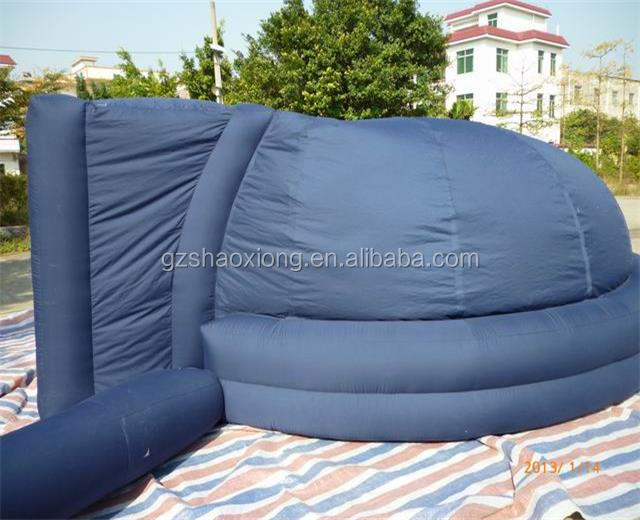 Hot cheap black large inflatable planetarium dome tent , inflatable dome movie house for outdoor party event
