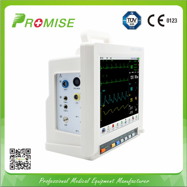CE multi parameter patient monitor with li ion battery medical monitoring device system