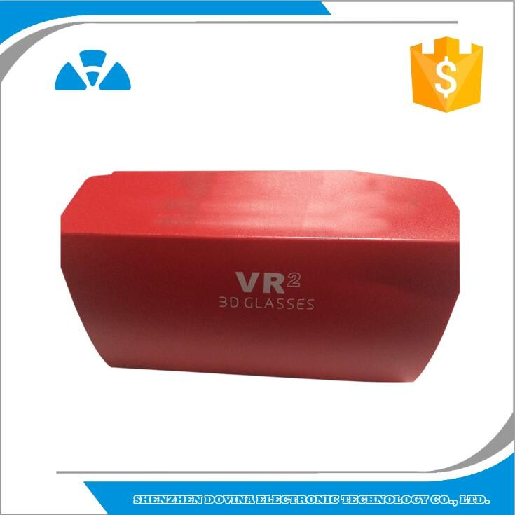 2017 hot selling 3D headset foldable virtual reality VR box, OEM google cardboard for mobile phone