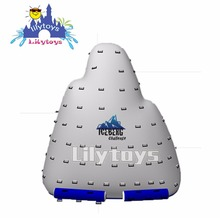 used commercial inflatable iceberg floating climbing wall water toys games