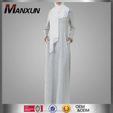 Muslim Women Everyday Abaya Design Knit Jersey Dress Dubai Abaya Wholesale