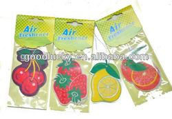 customized paper air freshener/solid air freshener