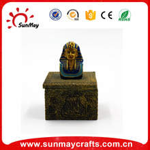 Wholesale custom hot sale resin Egypt Pharaoh Jewelry Box souvenir for sale