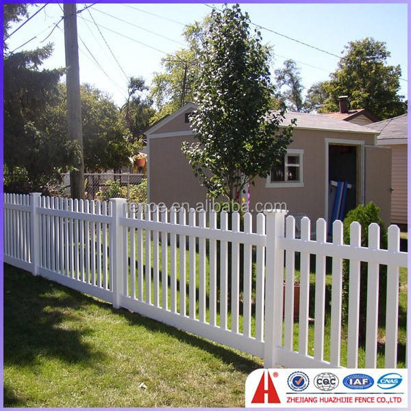 cheap pvc plastic yard fencing
