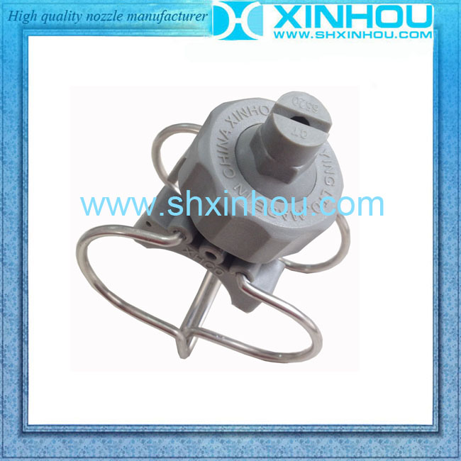 Quick connection fiber reinforced plastic clamp nozzle