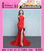 Wholesale Unique Design Sexy Ladies Western Evening Dress Wholesale Red Sleeveless Western Evening Dress