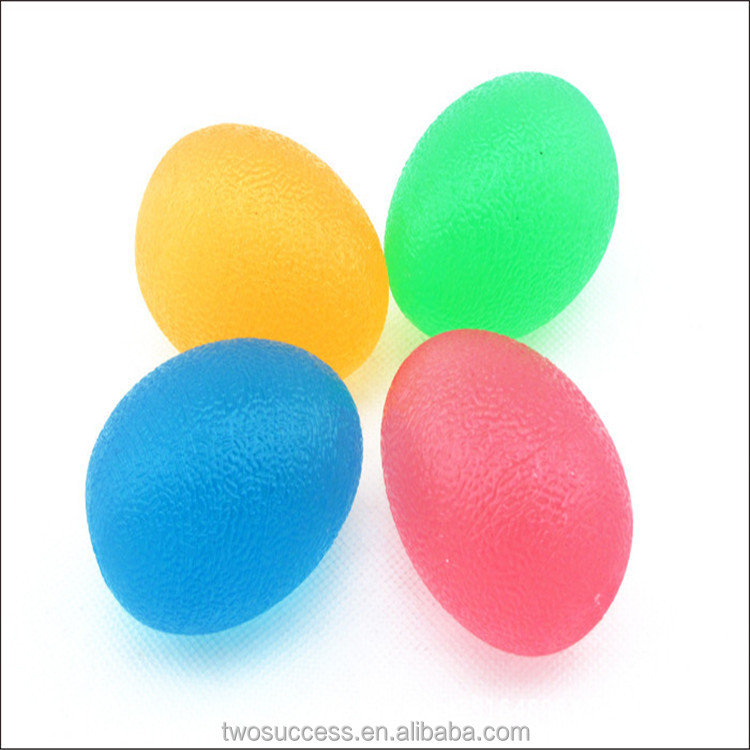 Factory Direct Sale For Wrist Hand Exerciser Fashion Gel egg shape TPU stress balls