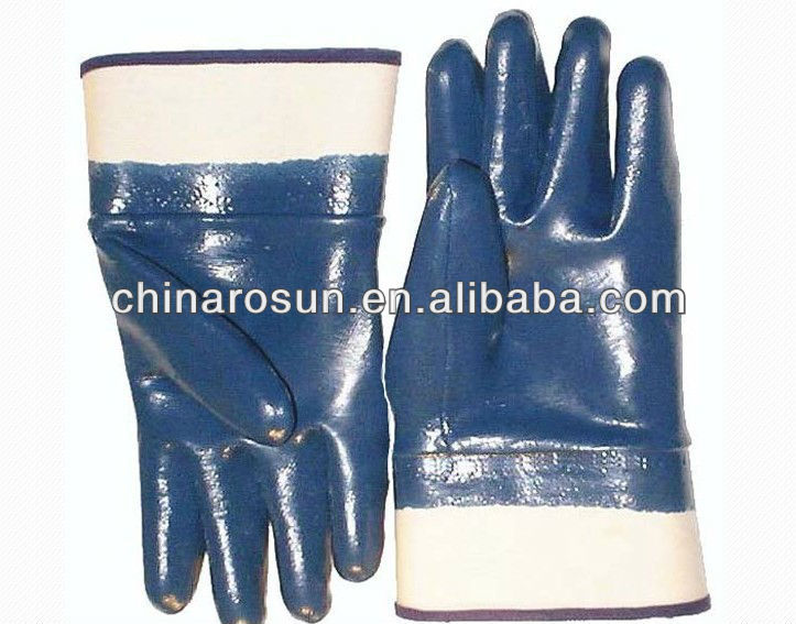 Working glove nitrile coated glove