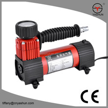 Portable mini 12v car air compressor/gas station air pump /tyre inflator for cars, bikes, motorcycle, ball, balloon