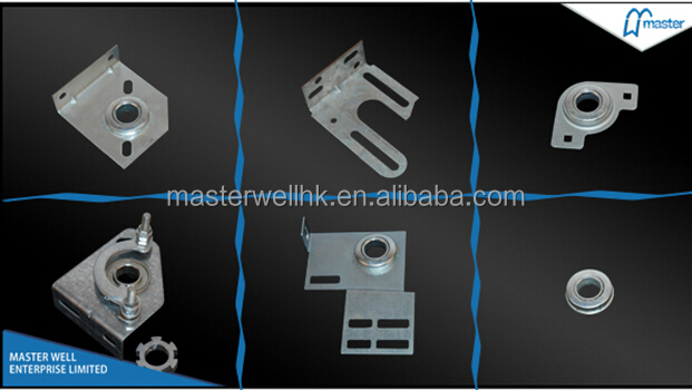 Sectional garage door hinges