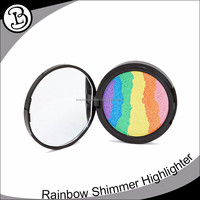 Hot selling fine powder high pigmented multi colors highlighter makeup