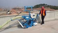 Portable building waterproof processing shot blasting machine