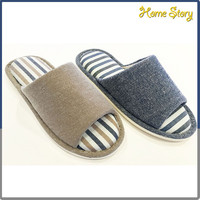 Customized daily wear open toe PVC super warm room man esd slipper