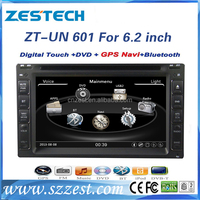 6.2inch double din car dvd with gps for universal cars 2 din universal car dvd with gps with radio blutooth