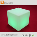 Outdoor Furniture 16 Colors Changing Illuminated Cube Chairs IP68 Waterproof Plastic LED Cube