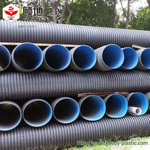 large diameter hdpe solid corrugated plastic drainage pipe for municipal engineering rain, sewage disposal