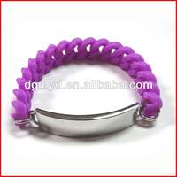 2013 new hot sale silicone popular at high quality fashion bracelet with metal