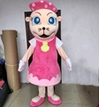 Pink mouse mascot costume/lady mouse mascot costume for sale