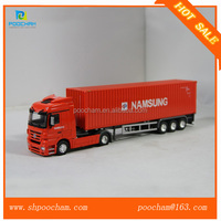 Hot selling 1:50 scale diecast metal container truck model