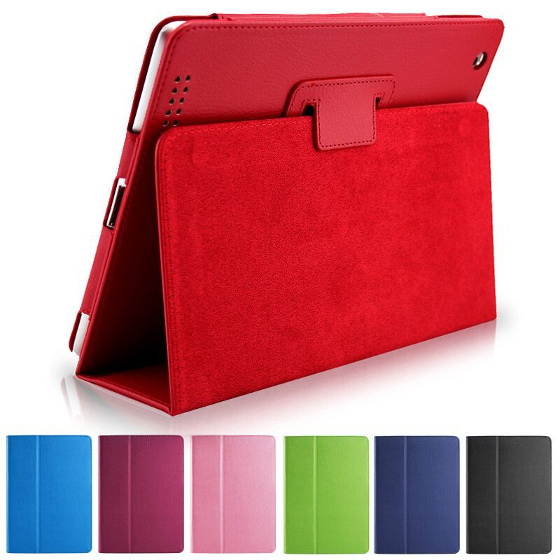 Auto Sleep / Wake Function Up Flip PU Leather Cover Smart Cover Holder Hand Feeling Soft Fur Case For ipad 4 5 6 9.7