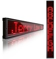 Indoor SMD P14-8x910R high brightness red single line LED sign with wireless remote control