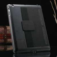 Top selling stand leather case for ipad 2 3 4 , for ipad 4 case , tablet leather case with arm band and loud speaker