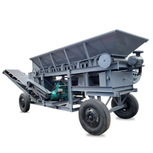 Large mobile crusher crushes stone and coal sand making machine