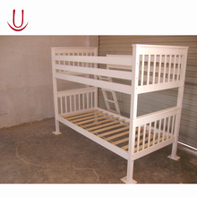 White toddler wood bunk bed for adults