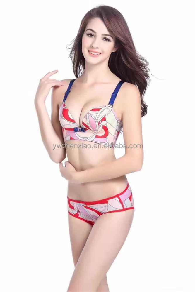 Beautiful ladies panty set sexy secret model bra ladies bra