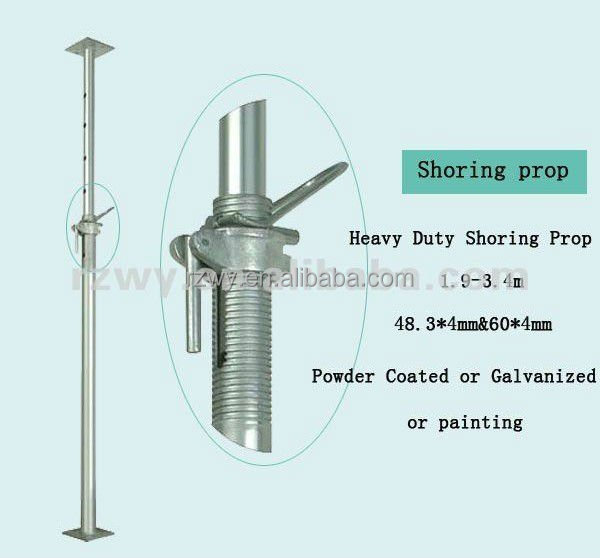 Adjustable Telescopic Prop : Adjustable steel telescopic prop heavy duty for