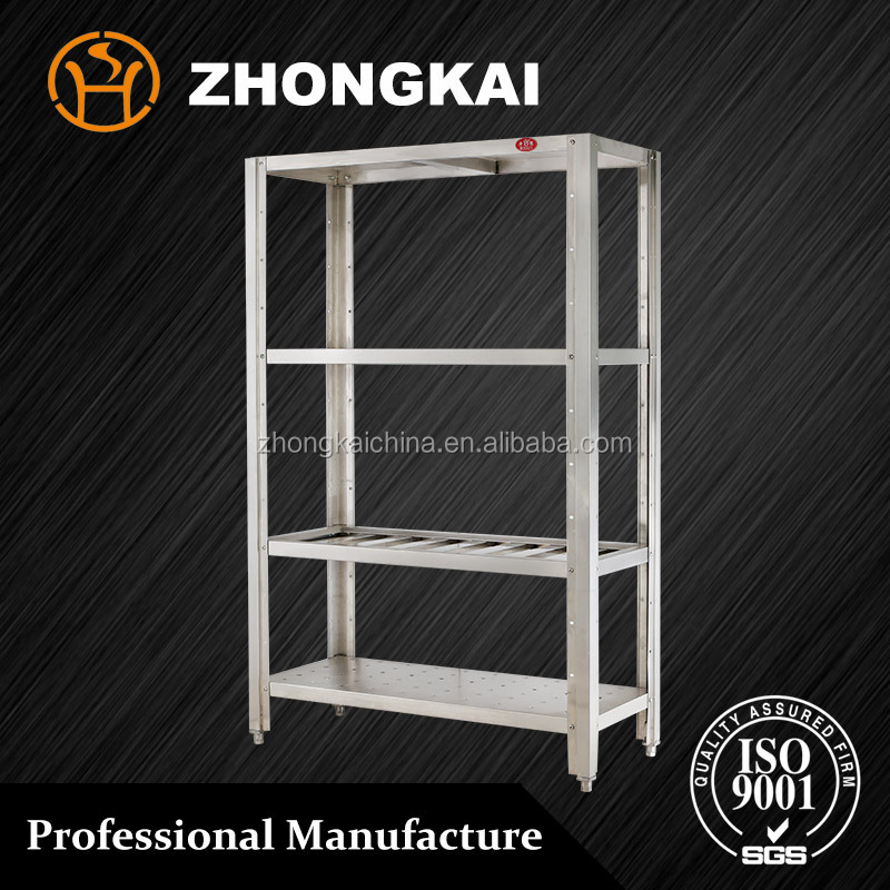Commercial Detachable 4 Layers Supermarket Storage Stainless Steel <strong>Shelf</strong>