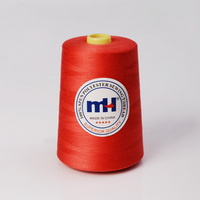Continuous filament 100% polyester sewing thread
